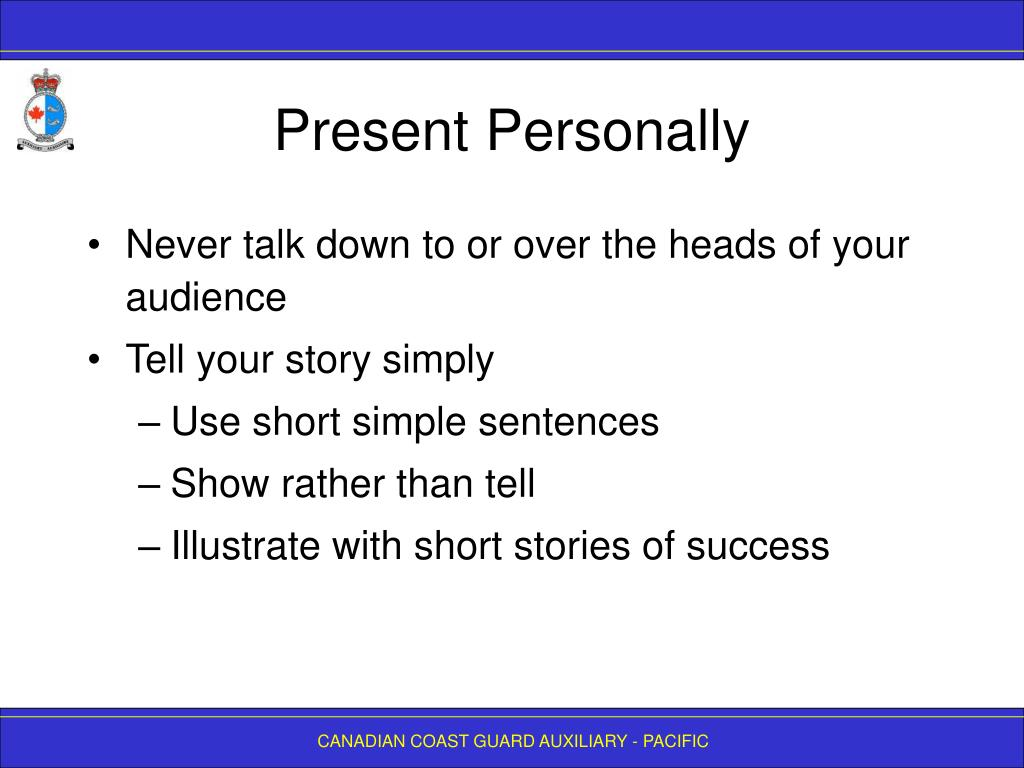 Present Personally