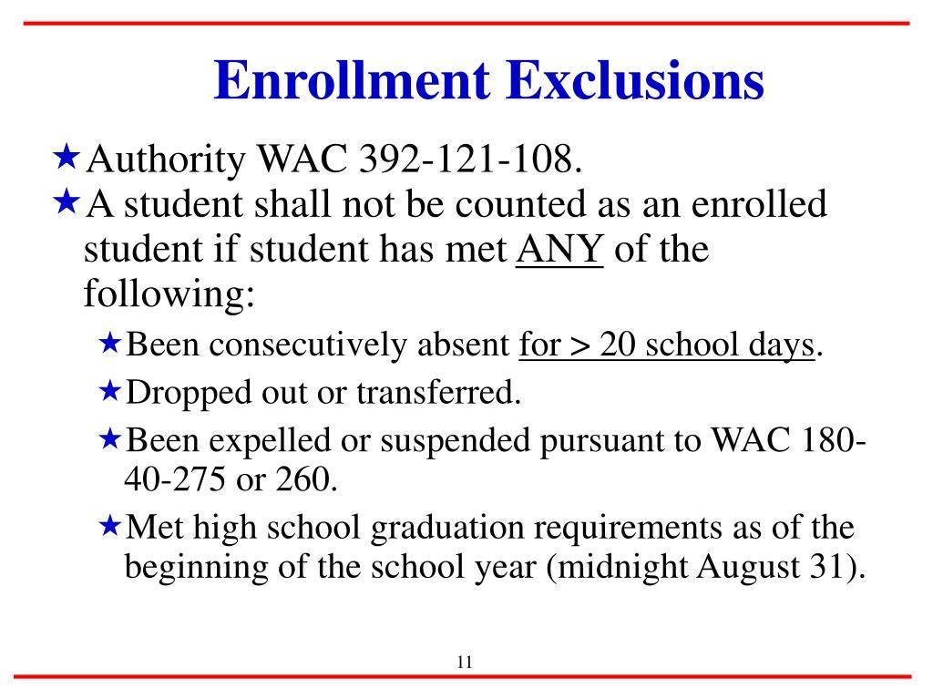 Enrollment Exclusions
