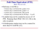 full time equivalent fte wac 392 121 122