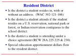 resident district