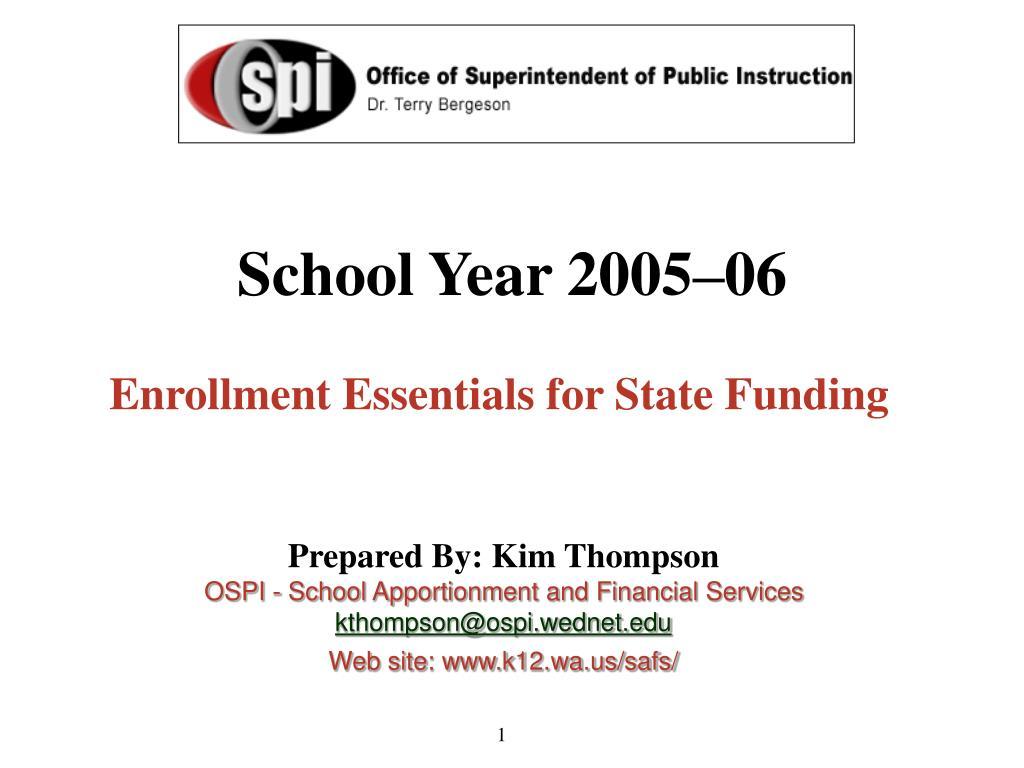 School Year 2005–06