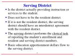 serving district