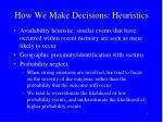 how we make decisions heuristics7