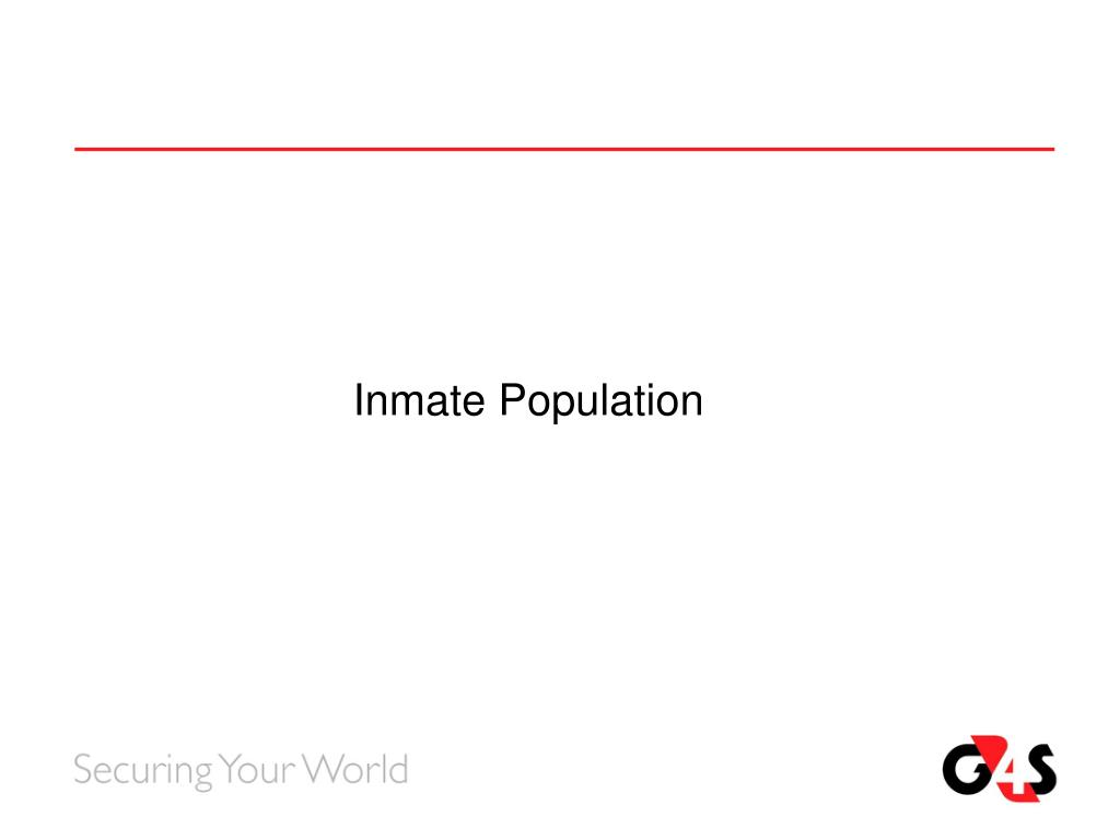 Inmate Population