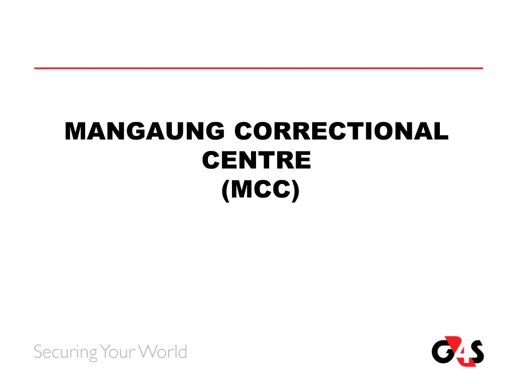 MANGAUNG CORRECTIONAL  CENTRE