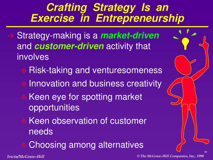 Crafting  Strategy  Is  an