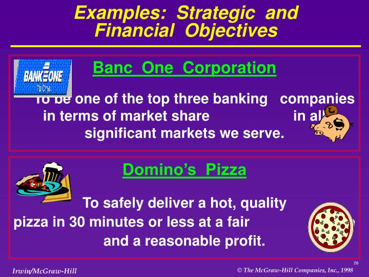 Examples:  Strategic  and