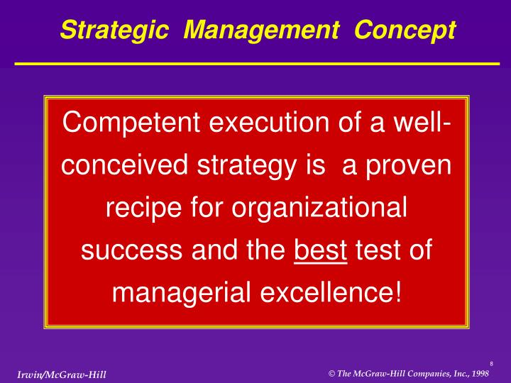 Strategic  Management  Concept