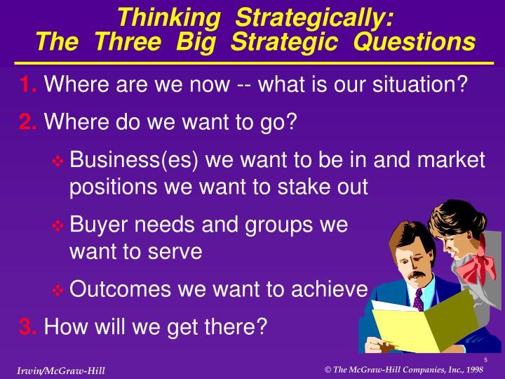 Thinking  Strategically: