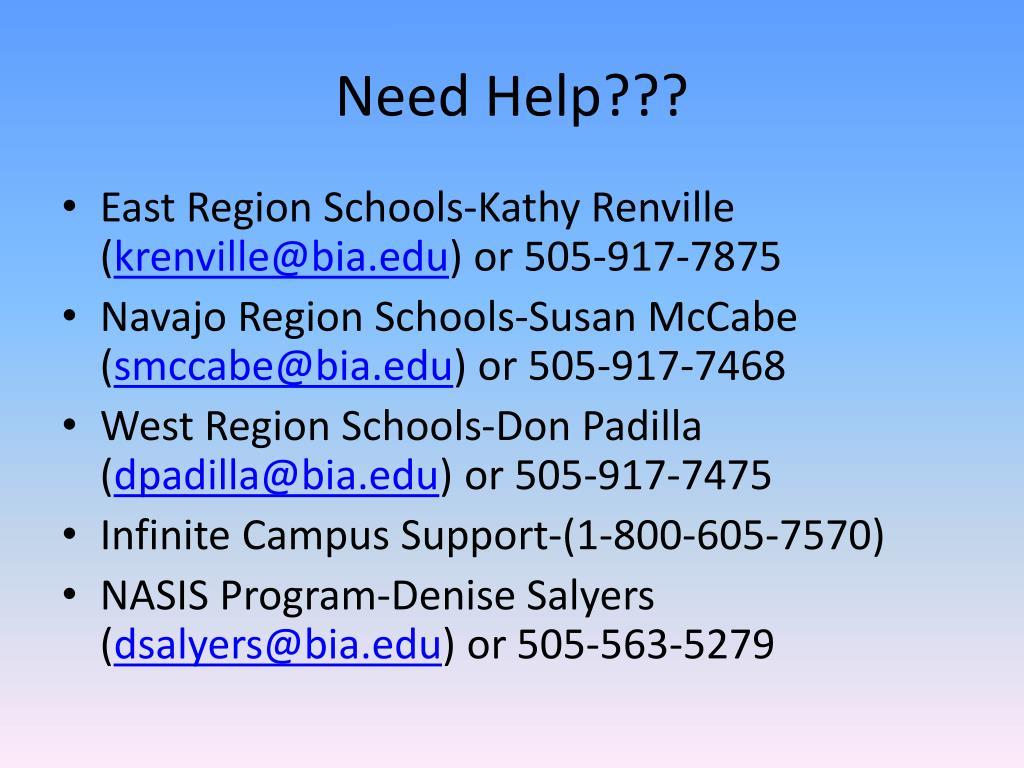 Need Help???