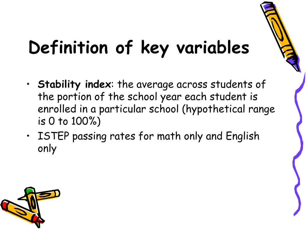 Definition of key variables