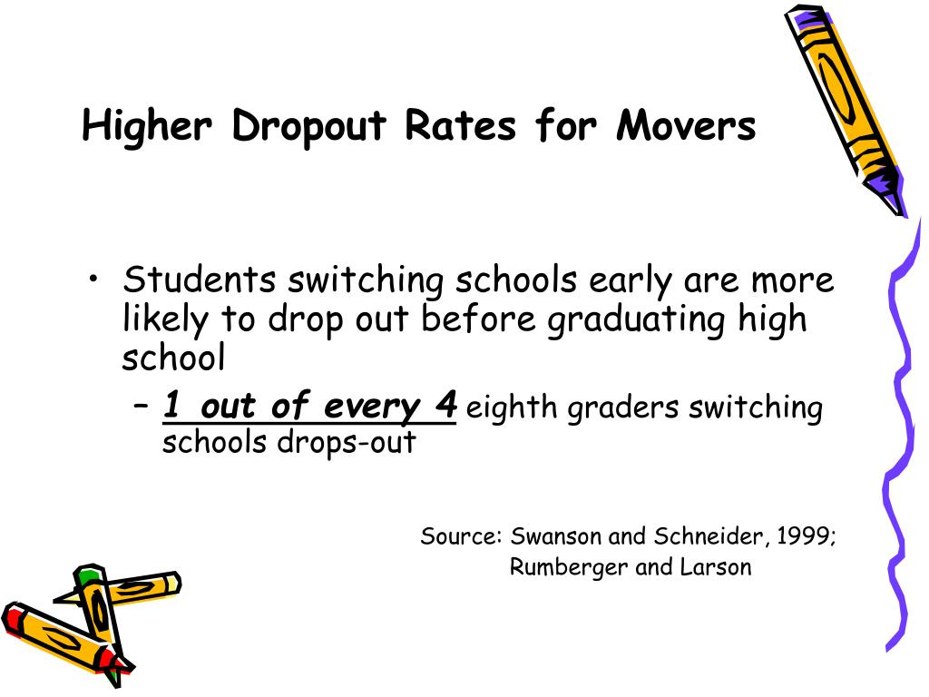 Higher Dropout Rates for Movers