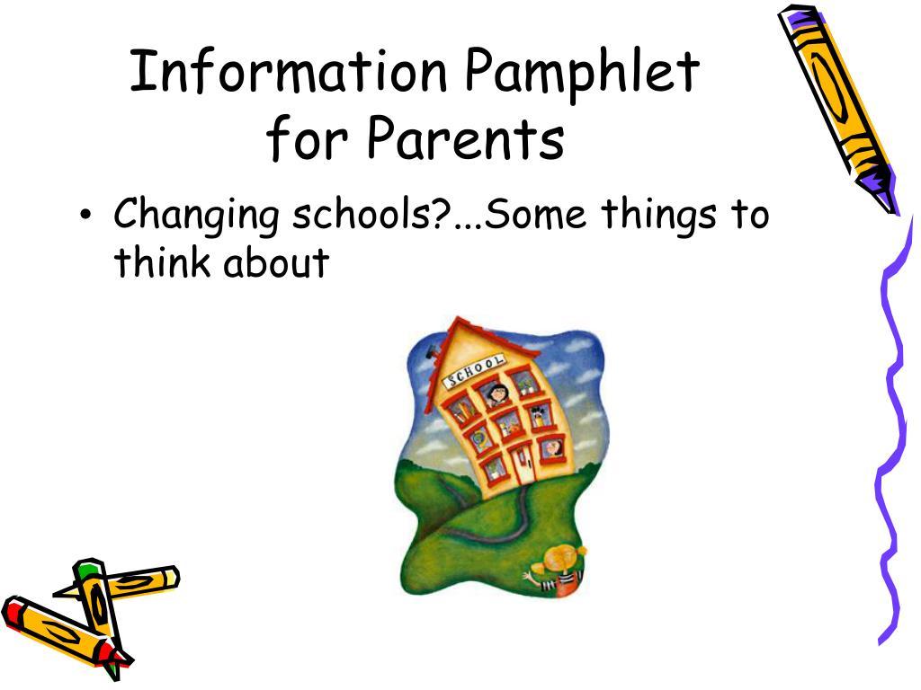 Information Pamphlet for Parents