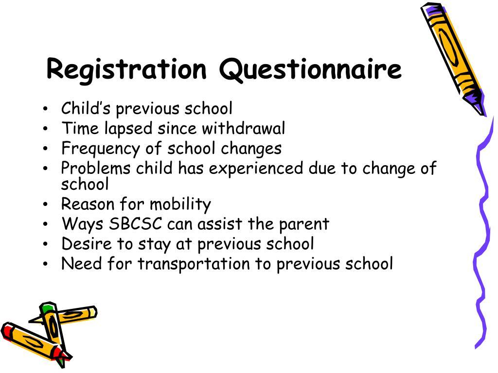 Registration Questionnaire