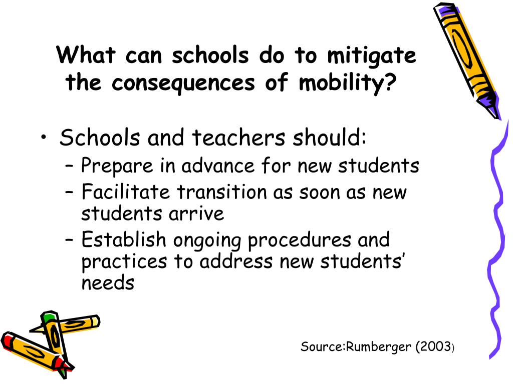 What can schools do to mitigate the consequences of mobility?