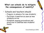 what can schools do to mitigate the consequences of mobility