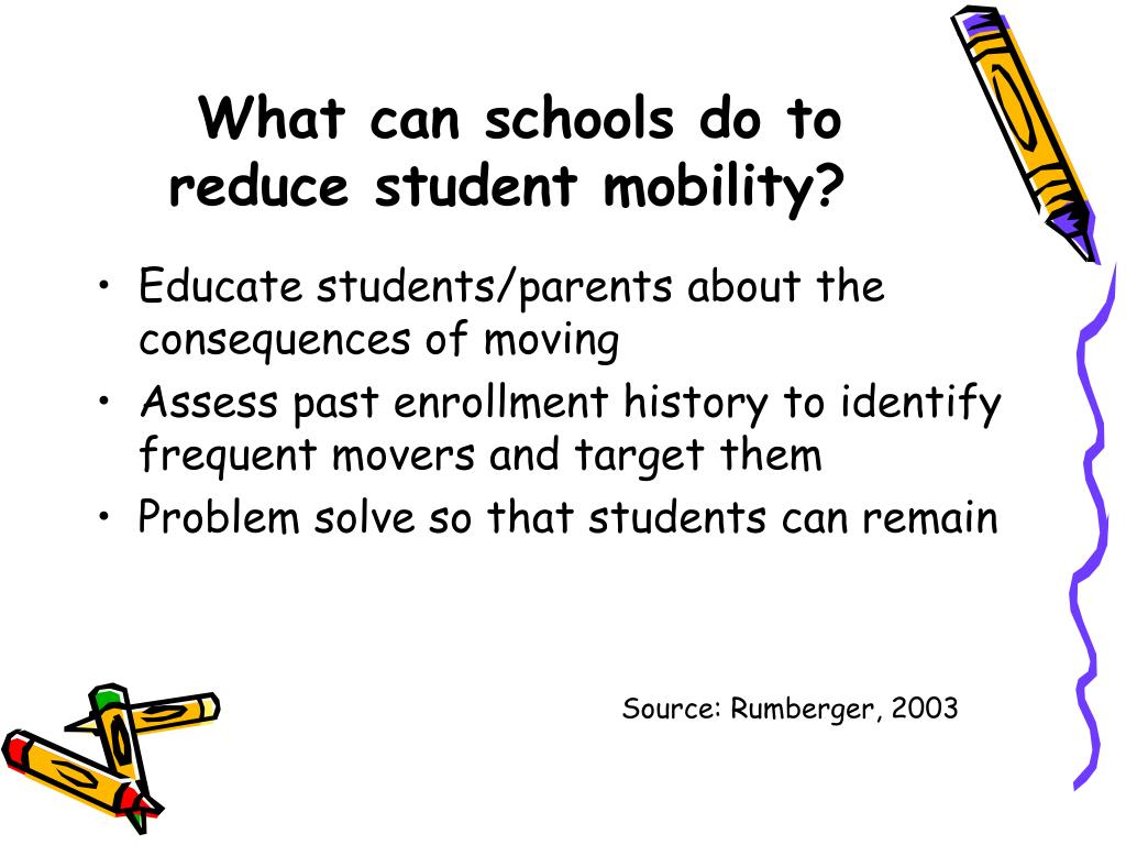 What can schools do to reduce student mobility?