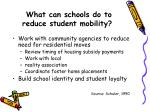 what can schools do to reduce student mobility19