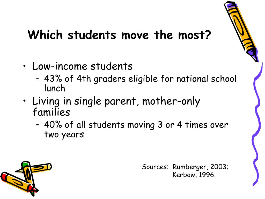 Which students move the most?