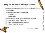 why do students change schools