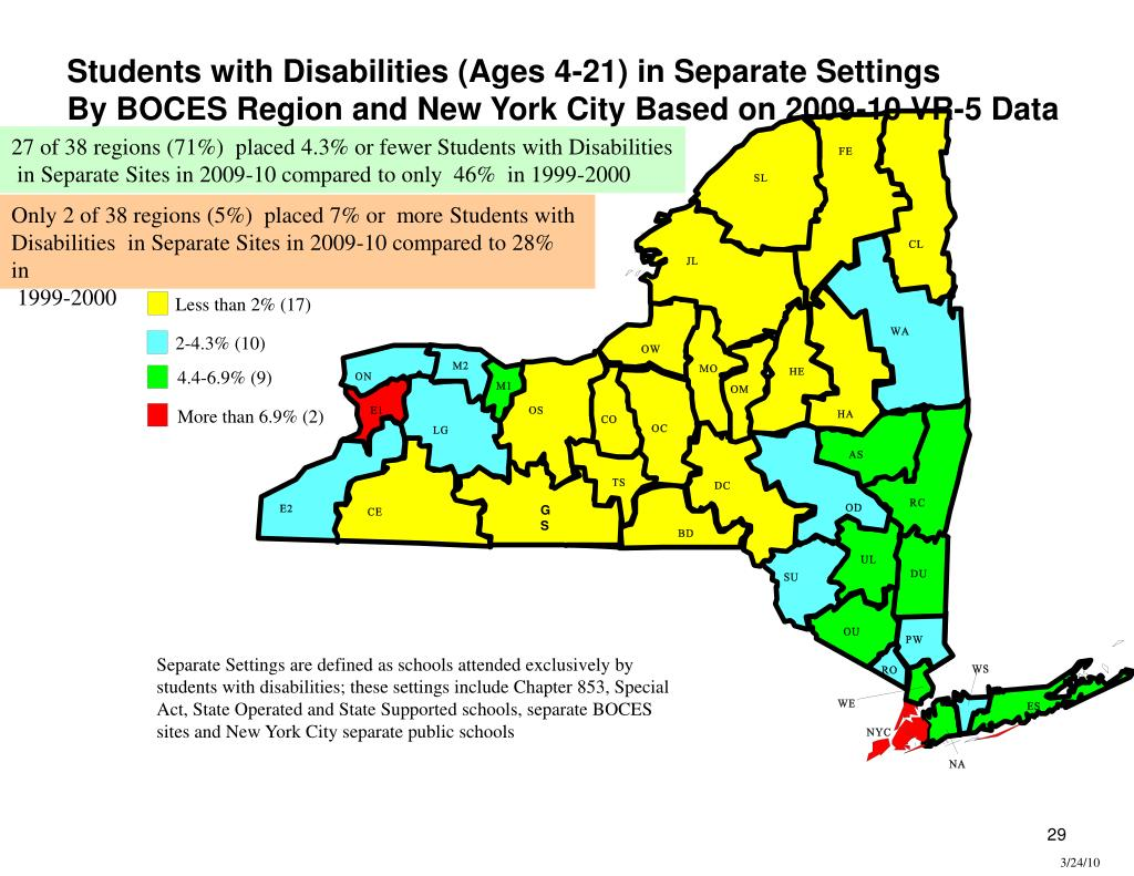 Students with Disabilities (Ages 4-21) in Separate Settings