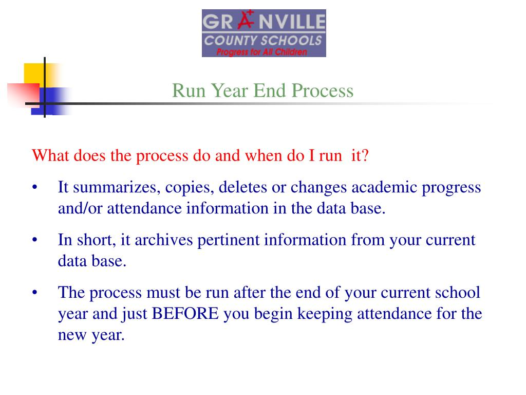 Run Year End Process