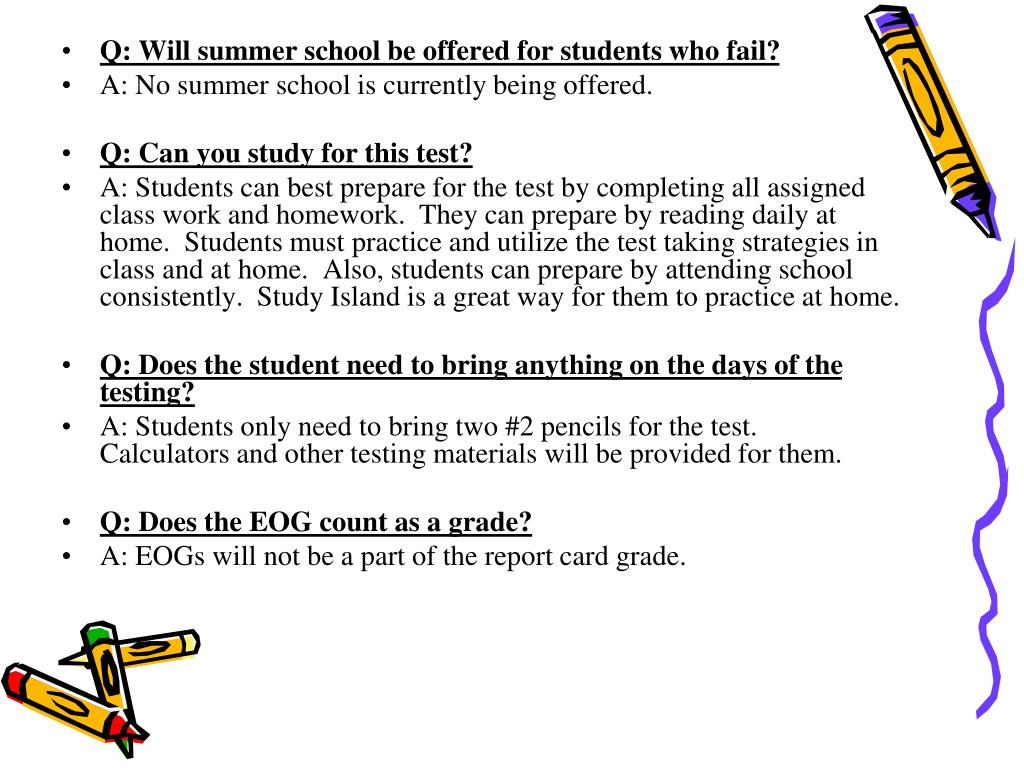 Q: Will summer school be offered for students who fail?