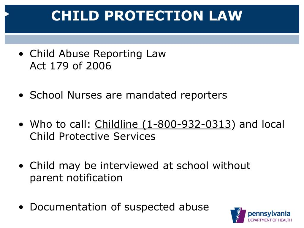 CHILD PROTECTION LAW