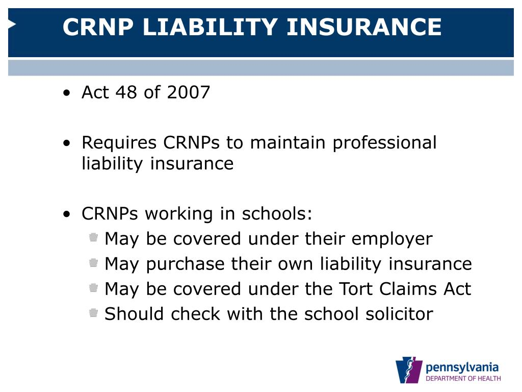 CRNP LIABILITY INSURANCE