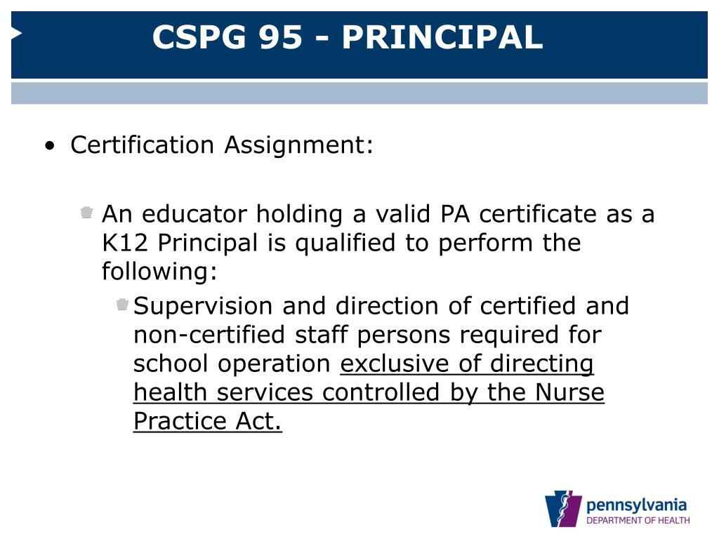 CSPG 95 - PRINCIPAL