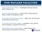 five nuclear facilities