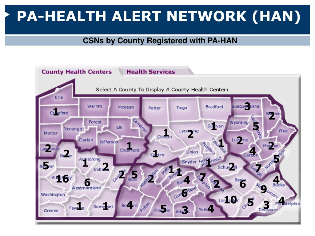 PA-HEALTH ALERT NETWORK (HAN)