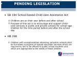 pending legislation62