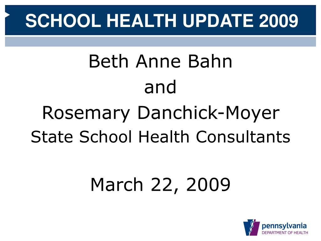 pennsylvania department of health division of school health