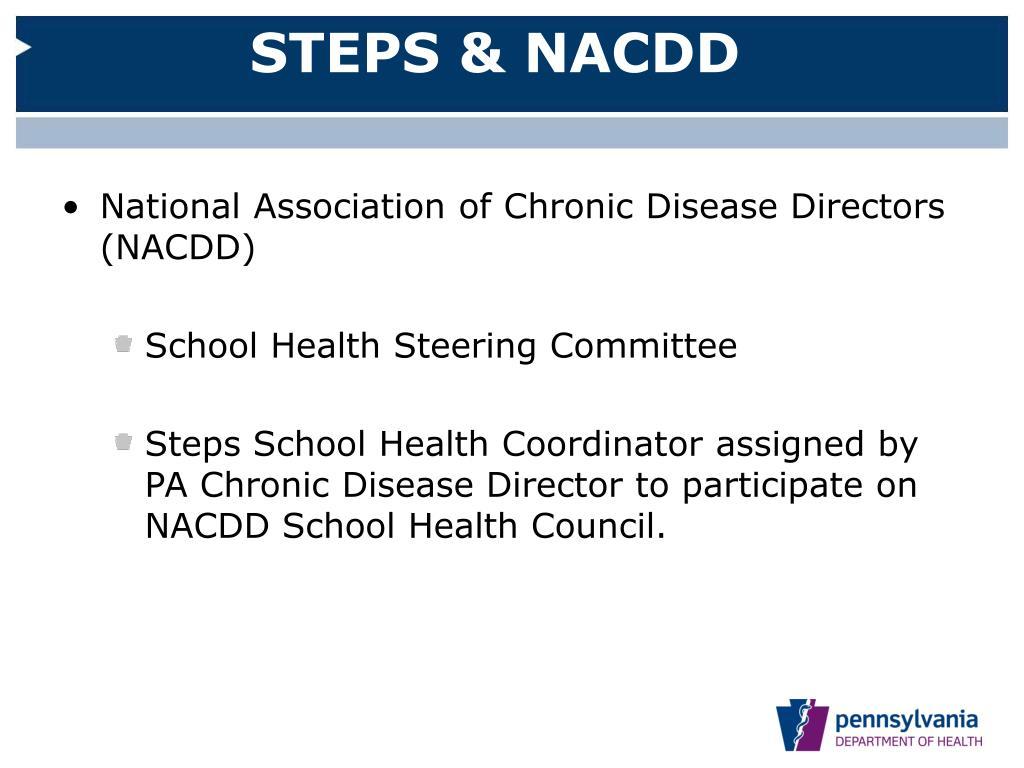 STEPS & NACDD