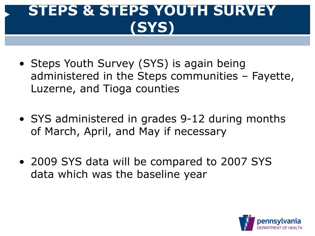 STEPS & STEPS YOUTH SURVEY (SYS)