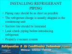installing refrigerant piping