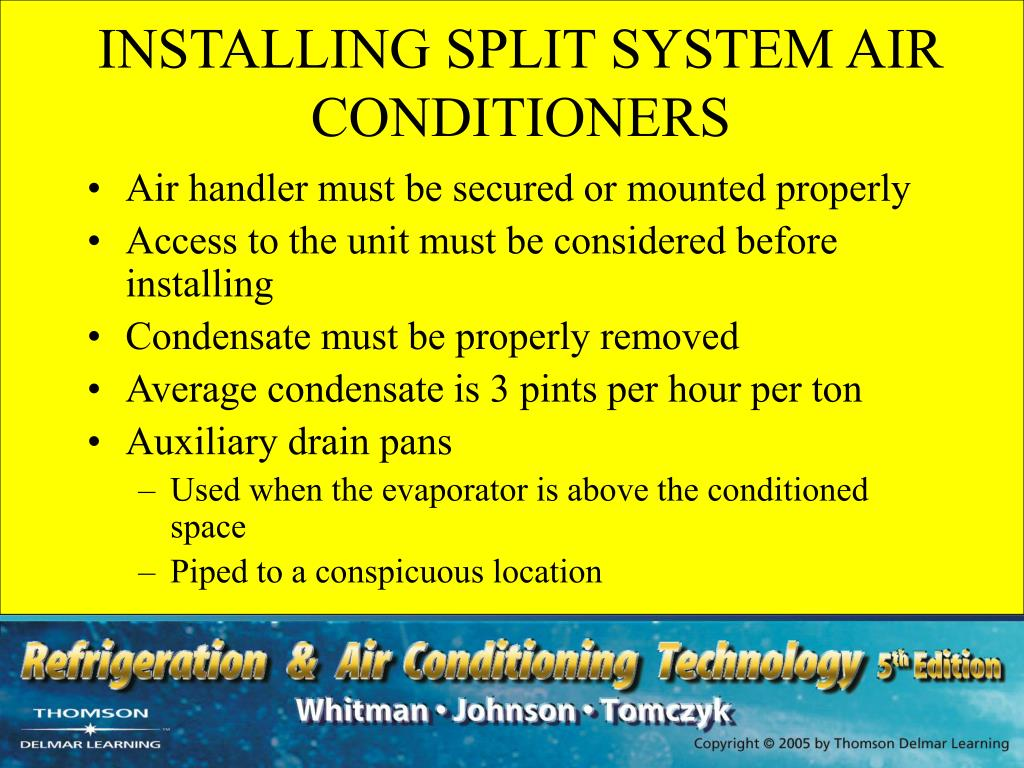 INSTALLING SPLIT SYSTEM AIR CONDITIONERS