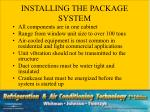 installing the package system