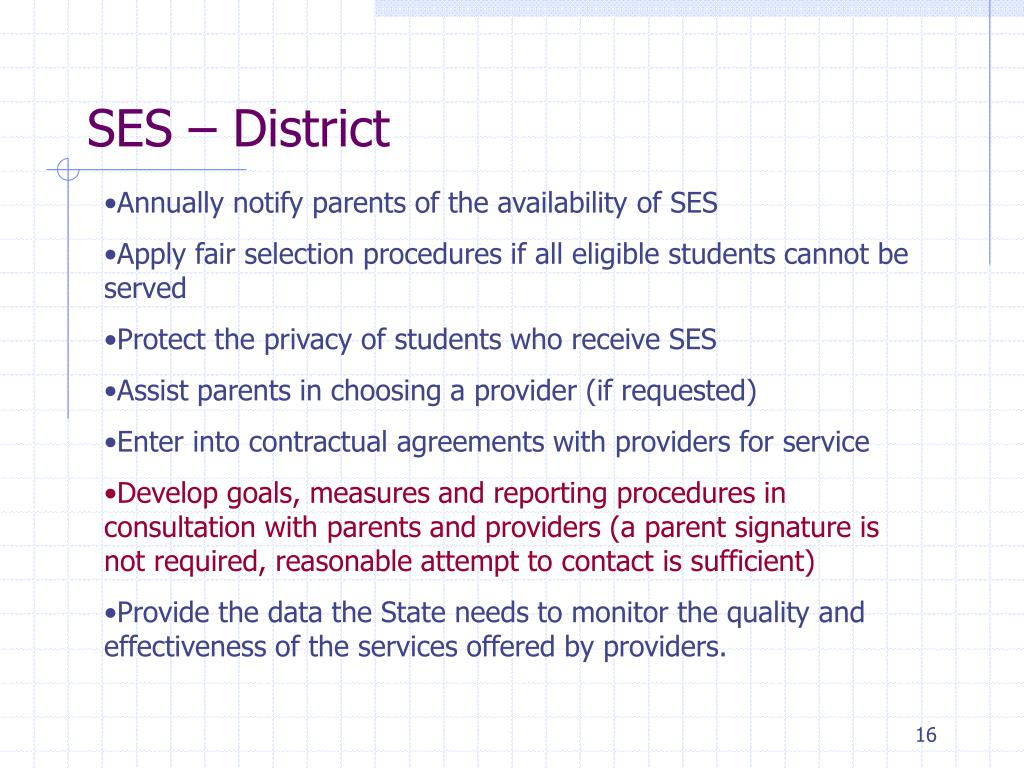 SES – District