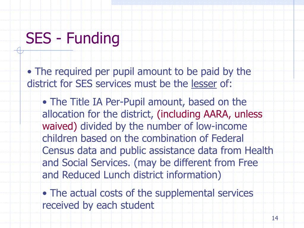 SES - Funding