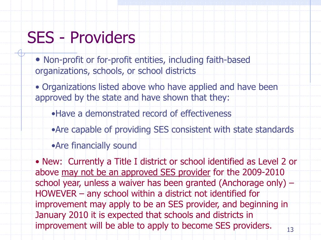 SES - Providers