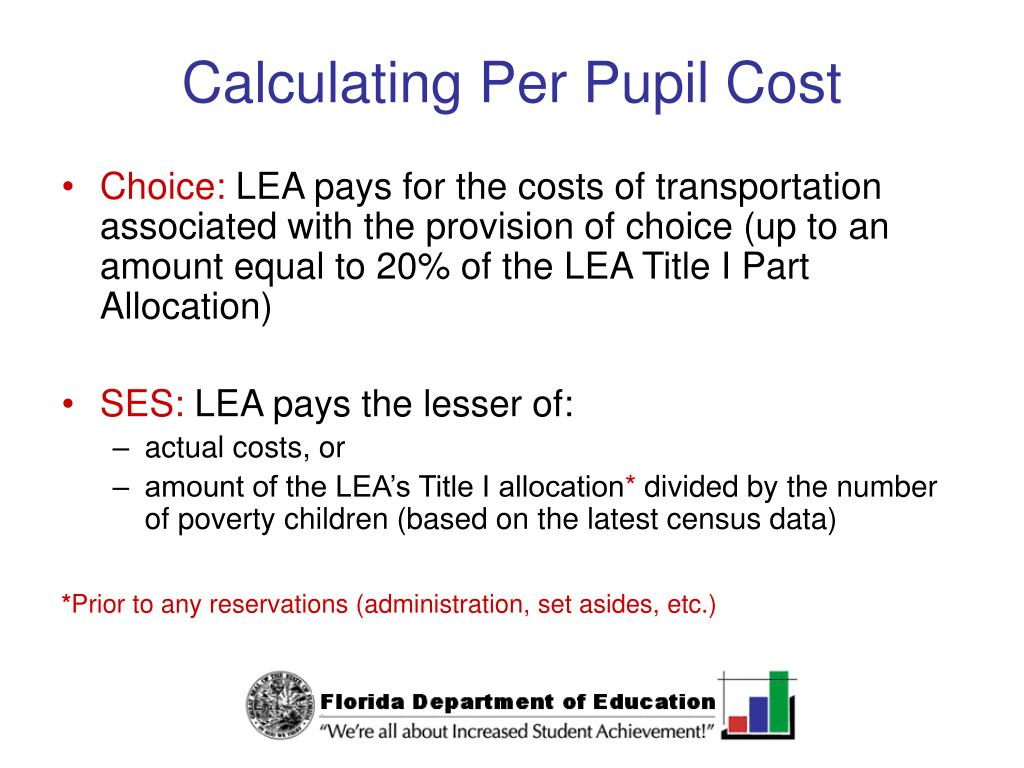 Calculating Per Pupil Cost
