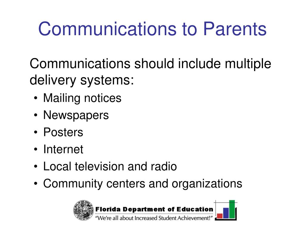 Communications to Parents