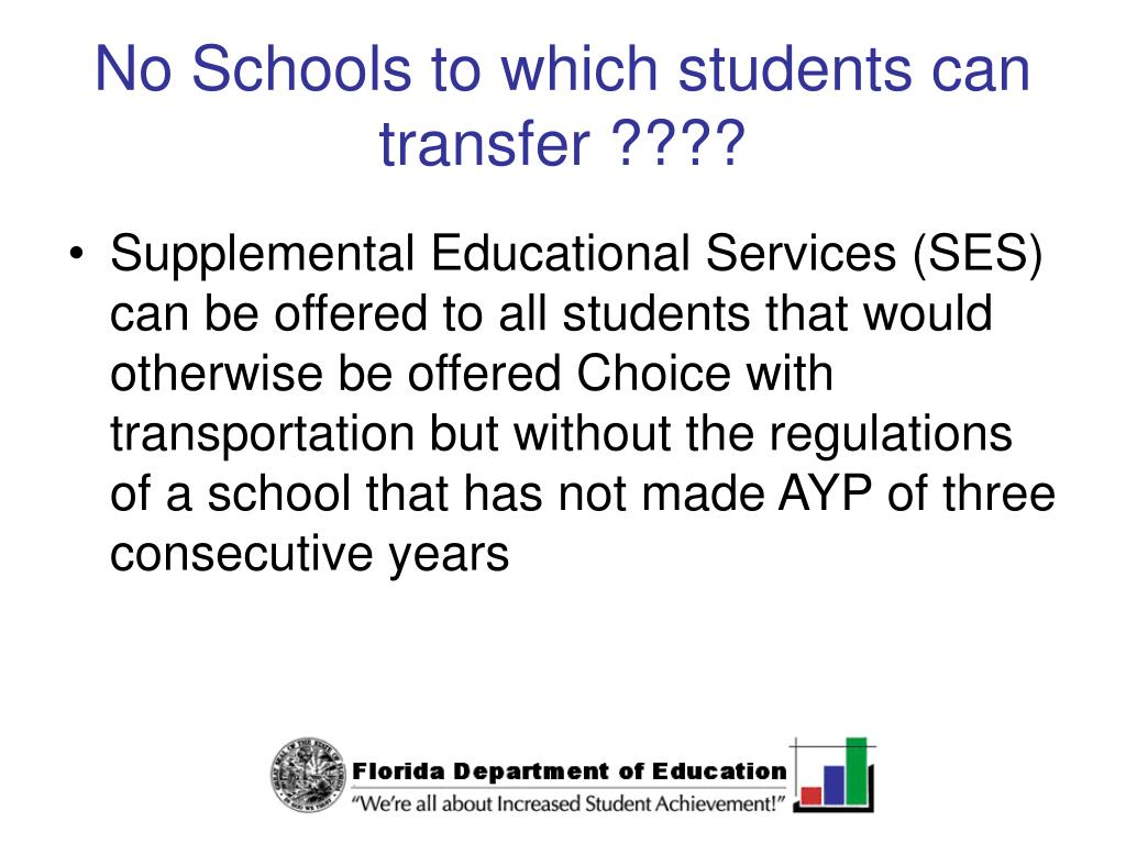 No Schools to which students can transfer ????