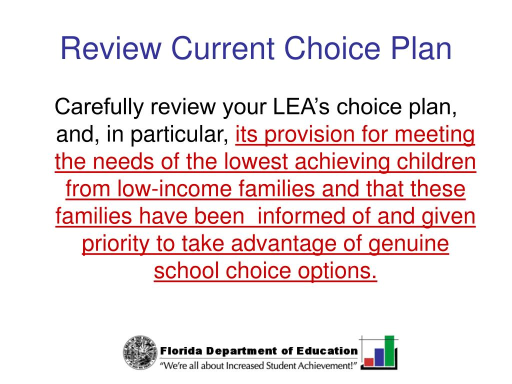 Review Current Choice Plan