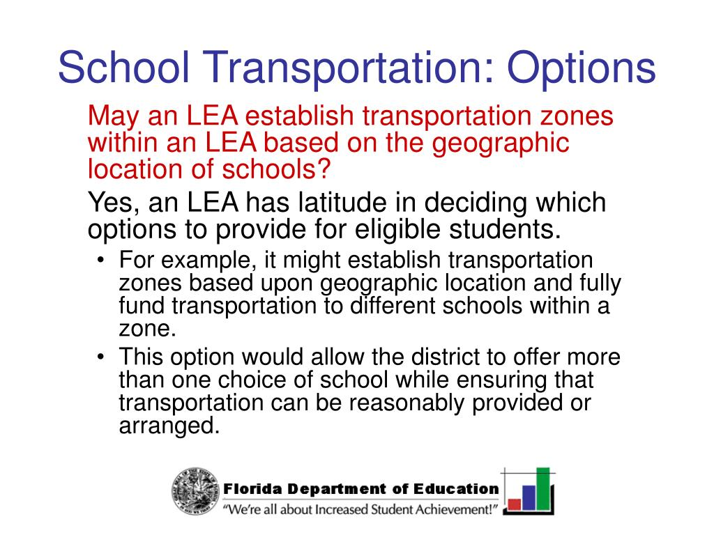 School Transportation: Options