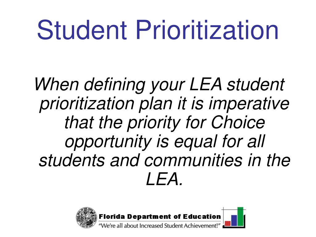 Student Prioritization