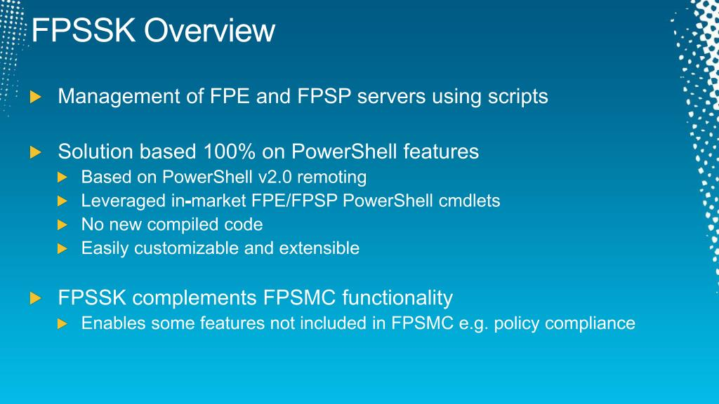 FPSSK Overview