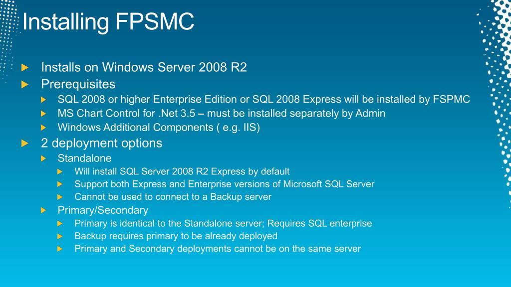 Installing FPSMC